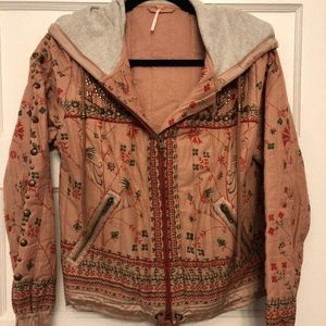 Free People Quilted Bomber